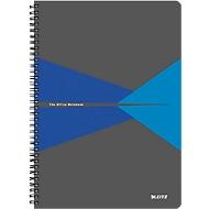 LEITZ® Office collegeblok 464700 A4, gelamineerde kaft, geruit, blauw