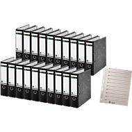 LEITZ® Ordner 1080, A4, 80 mm, Karton, Wolkenmarmor, 20 Stück + 1 x LEITZ® Trennblätter