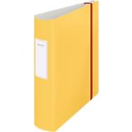 Leitz® Ordner 180° Active Cosy, A4, Rückenbreite 82 mm, 180°-Hebelmechanik, geklebtes Rückenschild & Gummiband, gelb