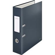 Leitz® Ordner 180° Cosy, A4, 180°-Präzisionsmechanik, Schreibschild & Griffloch, Rückenbreite 80 mm, grau