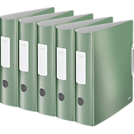 LEITZ® Ordner Active Style, DIN A4, Rückenbreite 82 mm, 5 Stück, seladon grün
