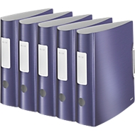LEITZ® Ordner Active Style, DIN A4, Rückenbreite 82 mm, 5 Stück, titan blau