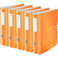 LEITZ® Ordner Active WOW, DIN A4, Rückenbreite 82 mm, 5 Stück, orange