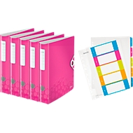 Leitz Ordner pink + Register