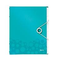 LEITZ Ordnungsmappe Active Wow, für DIN A4, 6 Fächer, eisblau