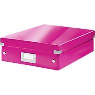LEITZ® organisatiebox Click + Store, middel, roze