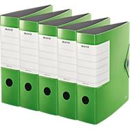 LEITZ® PP Ordners SOLID 1112, A4, 82 mm, lichtgroen, 5 stuks