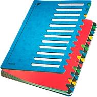 Leitz Pult-Ordner A4, mit 24 Fächern, aus langlebigem Karton, blau
