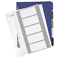 LEITZ Register Style, Zahlenregister, extrabreit, einzeln, Zahlen 1-5
