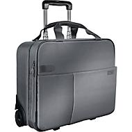 LEITZ® reistrolley Smart Traveller, met draaggreep en wielen,  polyester, zilvergrijs