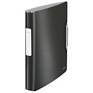 LEITZ® Ringbuch Active Style Softclick, DIN A4, 4-Ring-Mechanik, Rückenbreite 52 mm, satin schwarz