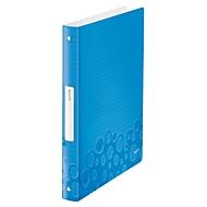 LEITZ® Ringbuch Active Wow, DIN A4, 4D-Ring-Mechanik, Rückenbreite 32 mm, blau
