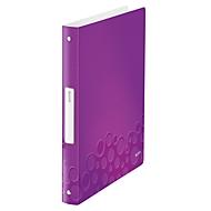 LEITZ® Ringbuch Active Wow, DIN A4, 4D-Ring-Mechanik, Rückenbreite 32 mm, violett