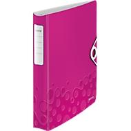 LEITZ® Ringbuch Active Wow Softclick, DIN A4, 4-Ring-Mechanik, Rückenbreite 52 mm, pink