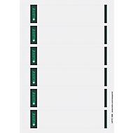 LEITZ® Rückenschilder kurz, PC-beschriftbar, Rückenbreite 50 mm, selbstklebend, 150 St., grau
