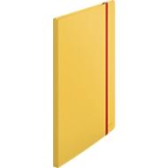 Leitz® Sichtbuch Cosy, A4-Format, 20 transparente Hüllen für bis zu 40 Blatt, Stauraum für lose Blätter, Polypropylen, gelb