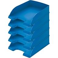 LEITZ® sorteerbak Standaard 5227, kunststof, 5 stuks, blauw