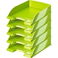 LEITZ® sorteerbak Wow 5226, A4, 5 stuks, metallic-groen