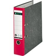 LEITZ® standaard ordner 1050, A4, 52 mm, wolkenmarmer, rood, 20 stuks