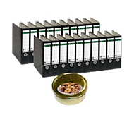LEITZ Standaard ordner 1080, rug 80 mm, 20 stuks + 1 doos Buttercookies GRATIS