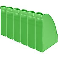 LEITZ® Stehsammler 2476, Rückenbreite 70 mm, Polystyrol, 6 Stück, grün