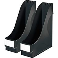 LEITZ® Stehsammler, DIN A4, Polysterol, 2 Stück, schwarz