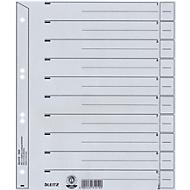 LEITZ® Tabbladen met tabs te snijden,Leitz Nr. 1650 A4 (volledige hoogte), grijs, 100 stuks