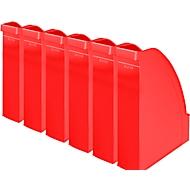 LEITZ® tijdschriftenhouder 2476, rugbreedte 70 mm, polystyreen, 6 stuks, rood