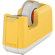 Leitz® Tischabroller für Klebefilm Cosy, für Rollen mit L 33 m x B 19 mm, Füße, inkl. Klebefilmrolle, Kunststoff, gelb