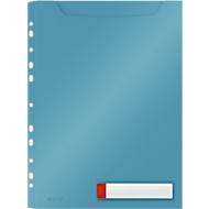 Leitz® transparante hoes Cosy Privacy Maxi, ondoorzichtig, A4, tot 150 vel, opvouwbare geperforeerde rand, schrijfetiket, 3 stuks, blauw