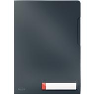 Leitz® transparante hoes Cosy Privacy, ondoorzichtig, A4-formaat, voor maximaal 40 vel, met etiket, 3 stuks, grijs