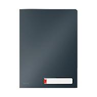 Leitz® transparante hoes Cosy Privacy, ondoorzichtig, A4, voor max. 40 vel, 3 vakken & etiket, 3 stuks, grijs