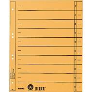 LEITZ® Trennblätter, DIN A4, Zahlen, 100 Stück, gelb
