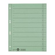 LEITZ® Trennblätter, DIN A4, Zahlen, 100 Stück, grün