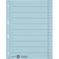 LEITZ® Trennblätter, DIN A4, Zahlen, 100 Stück, hellblau
