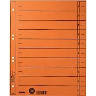 LEITZ® Trennblätter, DIN A4, Zahlen, 100 Stück, orange