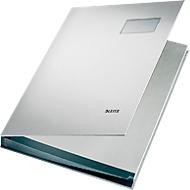 LEITZ Unterschriftenmappe A4, 20 Fächer, Karton/Polypropylen, grau