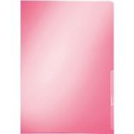 LEITZ® zichtmap Premium 4100, A4, glad, 100 stuks, rood
