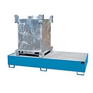 Lekbak AW 1000-2, blauw RAL 5012