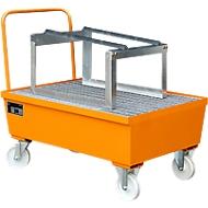 Lekbak type AST, verrijdbaar, oranje RAL2000