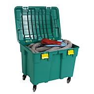 Lekkage set voor noodgevallen in verrijdbare koffer, voor bv. kleuren & smeermiddelen