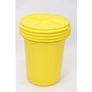 Lekkage set voor noodgevallen (olie, blauw) in veiligheidsvat, voor allerlei soorten olie