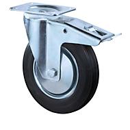 Lenkrolle, m. Feststeller, H100 mm, Tragkraft 50 kg