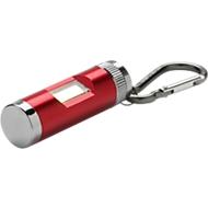 Leuchte mit Karabiner, ultra-helle Chip-On-Board-Leuchte, L 60, rot