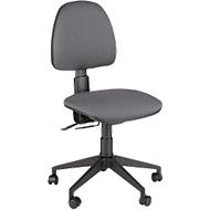 Leyform bureaustoel JOLLY, permanent contact, zonder armleuningen, rugleuning in hoogte verstelbaar, antraciet
