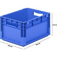 Lichte Eurobox ELB 4220, van PP, inhoud 20,4 l, zonder deksel, blauw