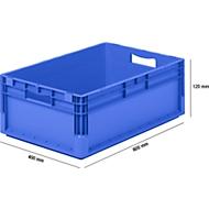 Lichte Eurobox ELB 6220, van PP, inhoud 43,7 l, zonder deksel, blauw