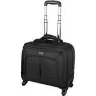 LIGHTPAK® Business Laptop Trolley Star, met draaggreep en wielen, met laptopvak, nylon, zwart
