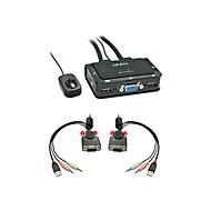 Lindy VGA KVM Switch Compact USB 2.0 Audio 2 Port - KVM-/Audio-/USB-Switch - 2 Anschlüsse