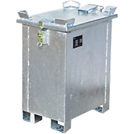 Lithium-Ionen-Lagerbehälter LIL 30, Stahlblech, abschließbarer Deckel, 3-fach stapelbar, B 400 x T 600 mm